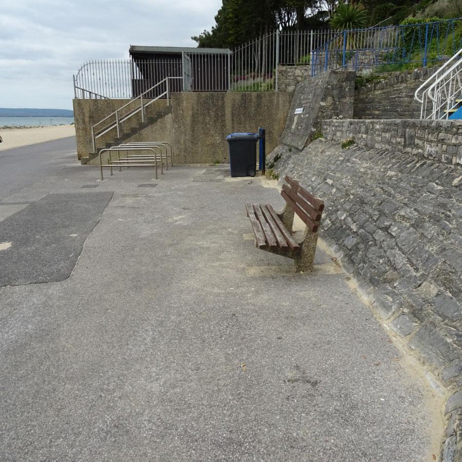 Development site - four new beach huts