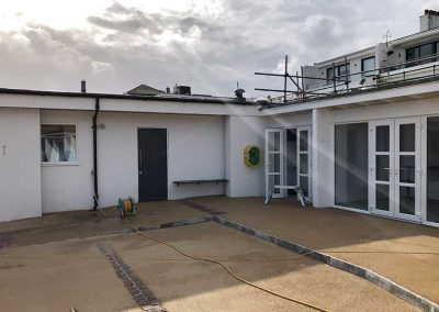 Access to changing rooms, beach office and one of two new beach huts
