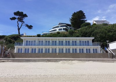 Eight new 1st floor & 12 refurbished ground floor beach huts at Shore Road East