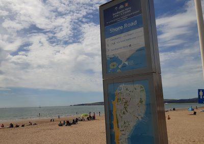 New beach waymarkers