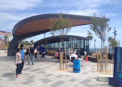 Leaf shelter and new Tourist Information Centre